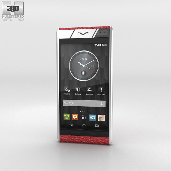 vertu aster blush 3D model