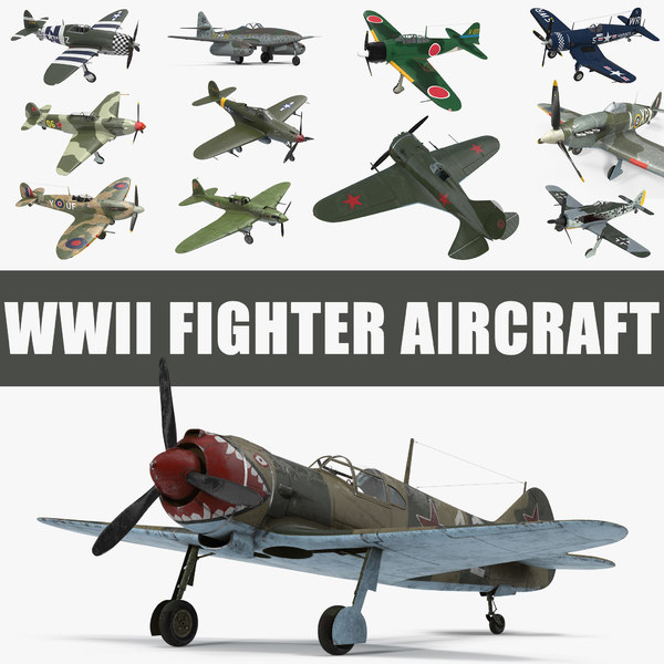 wwii fighter aircraft 3D model