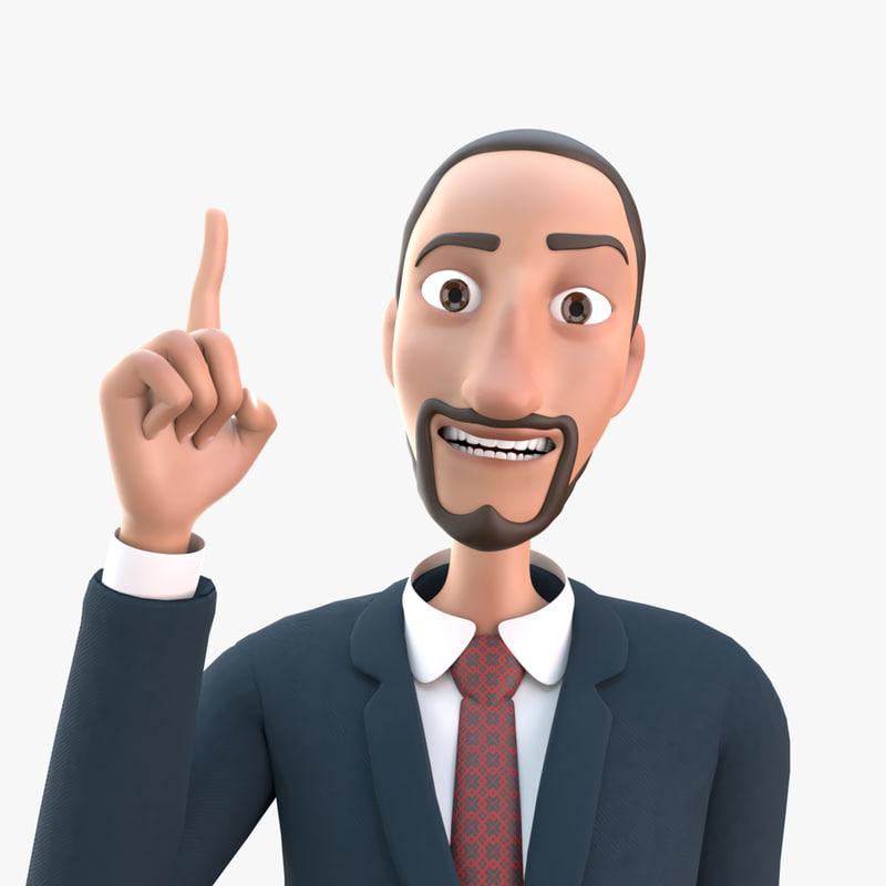 3D arabian business man
