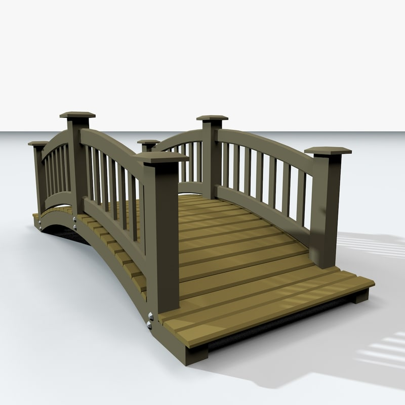 bridge wooden wood 3D model