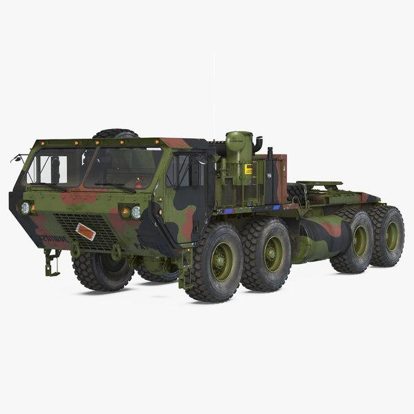 3D model military truck oshkosh hemtt
