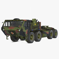 3D model military truck oshkosh hemtt