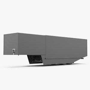 tesla semi small trailer model
