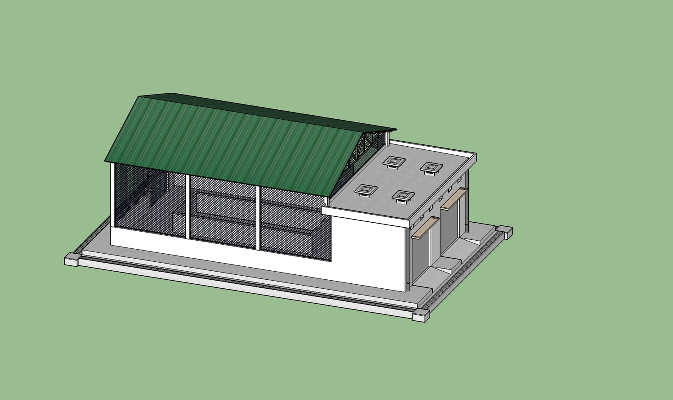 3D industrial station model