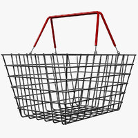 Metallic Shopping Basket