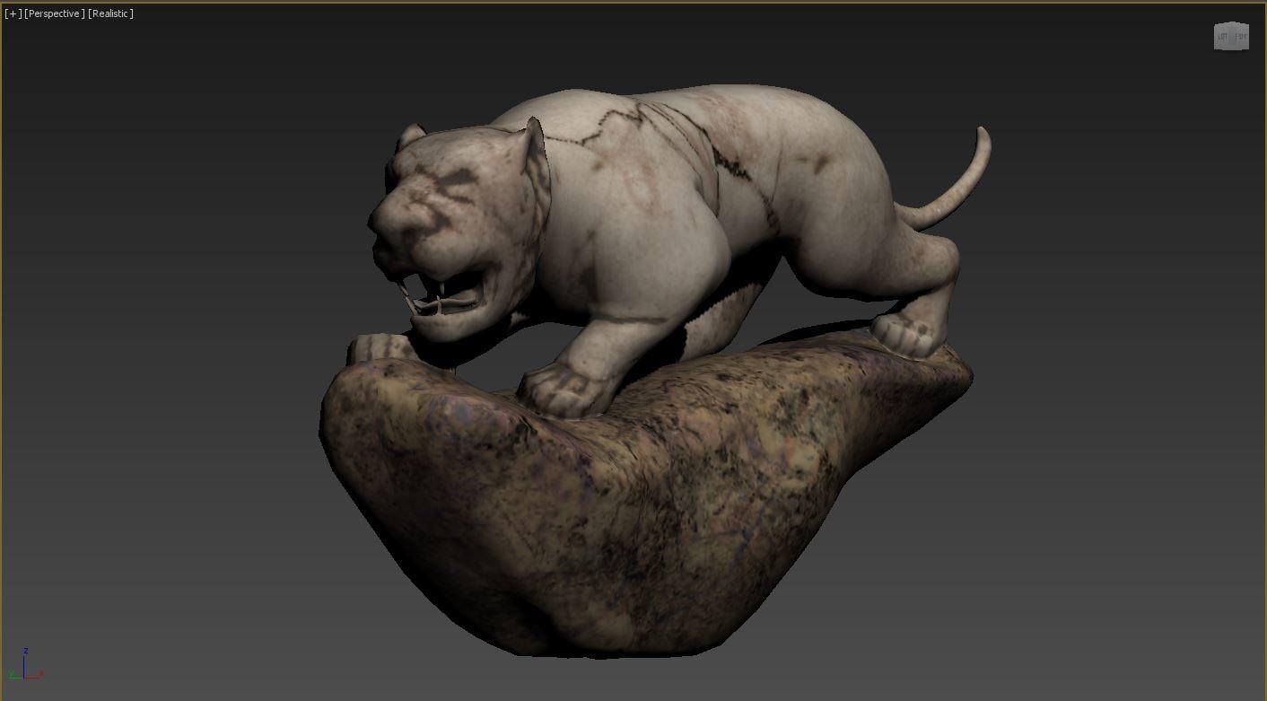 3D tiger stone object model