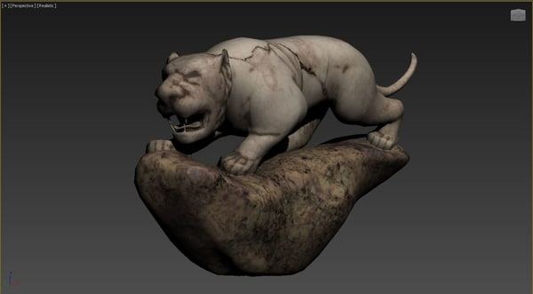 3D tiger stone object model