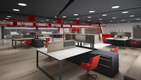 industrial office space 3D