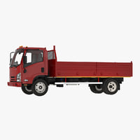 3D dropside truck generic simple model