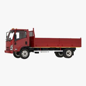 3D dropside truck generic simple model