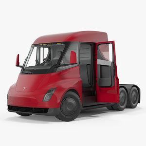 electric semi truck tesla model