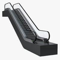 3D model escalator 2