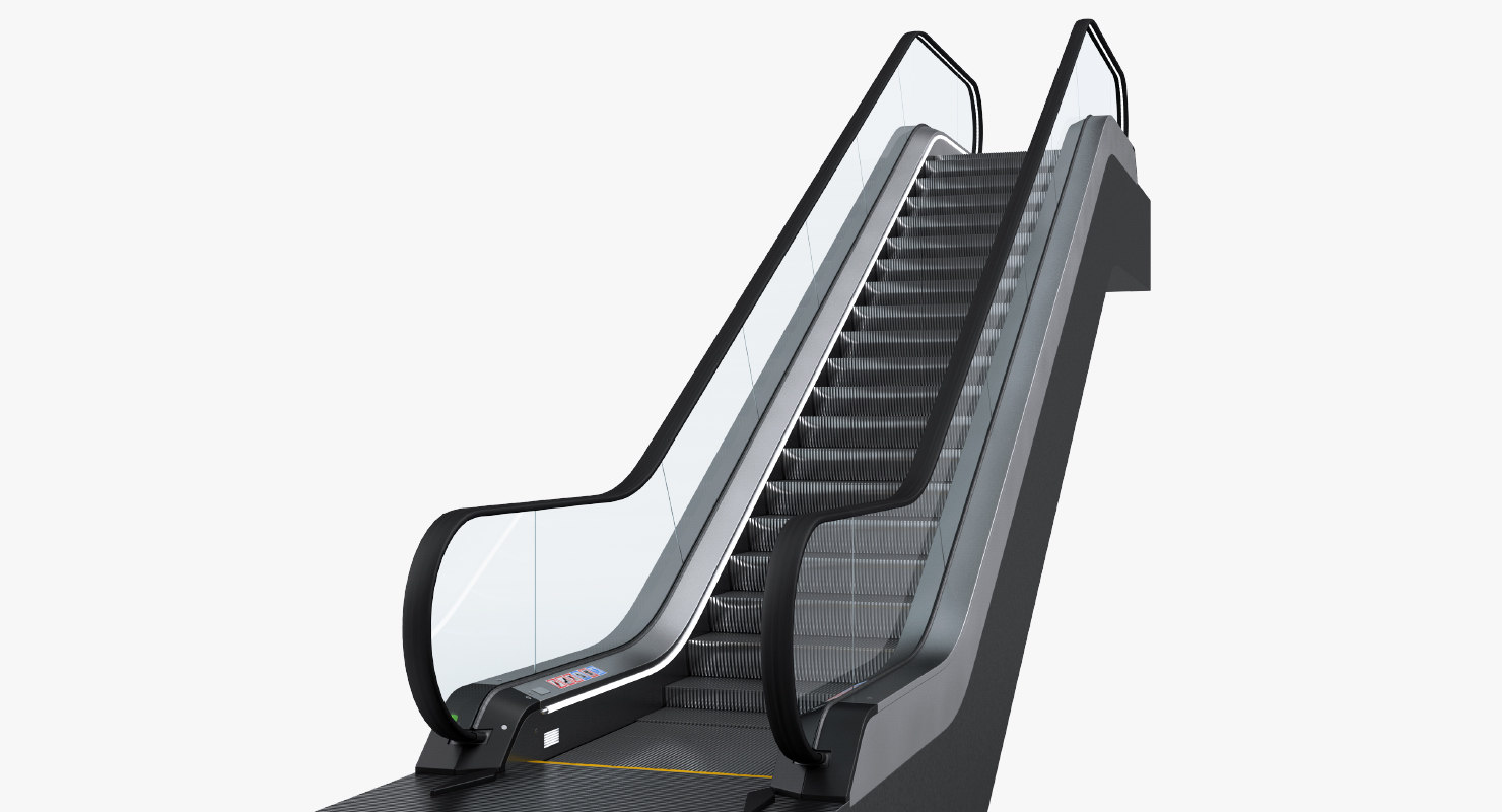 escalator 2 rigged 3D model
