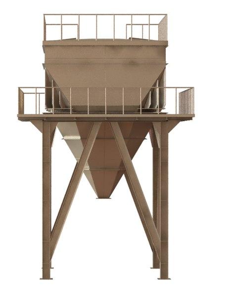 3D rectangular silo