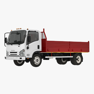 3D isuzu npr dropside 2018 model