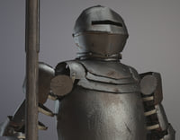 medieval plate armor 3D