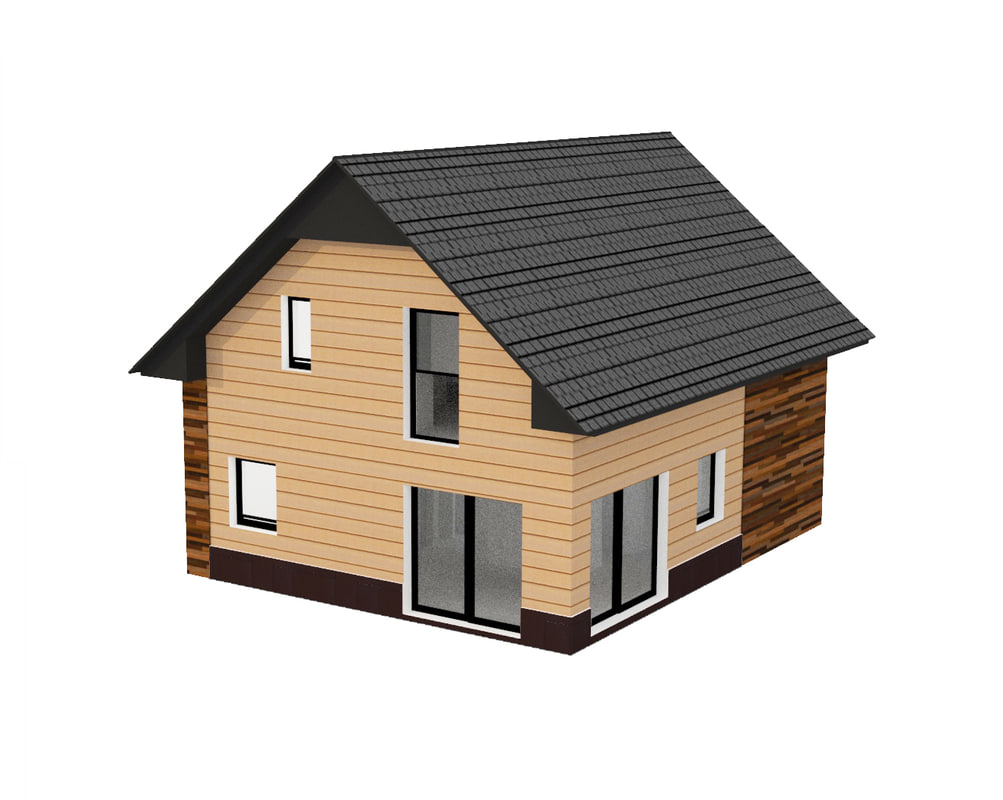 small usa house 3D model