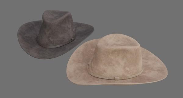 cowboy hat 1c 3D model