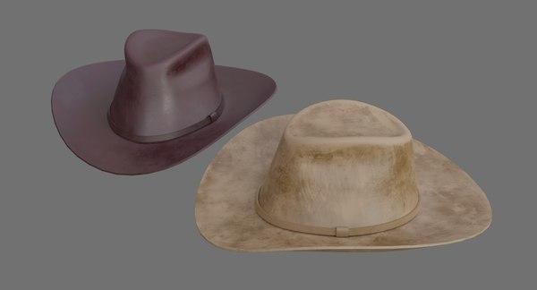 3D cowboy hat 1d model