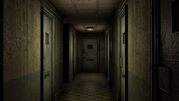 3D asylum corridor