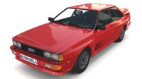 3D 1981 audi coupe quattro