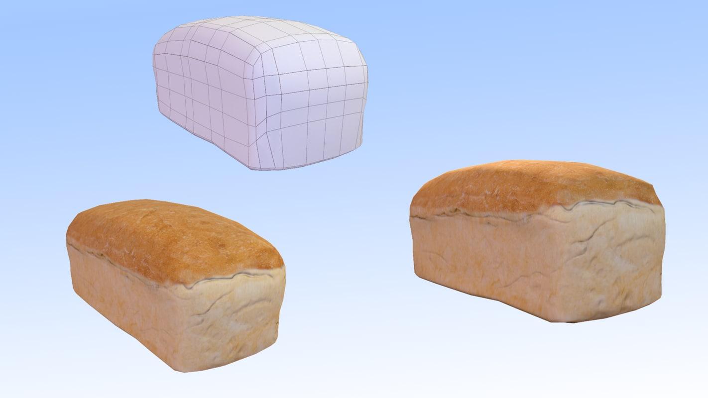 bread 3D model