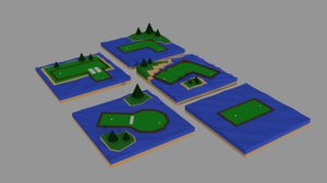 mini golf 3D model