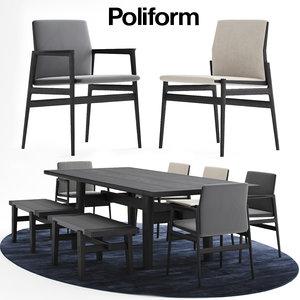 3D poliform news milano model
