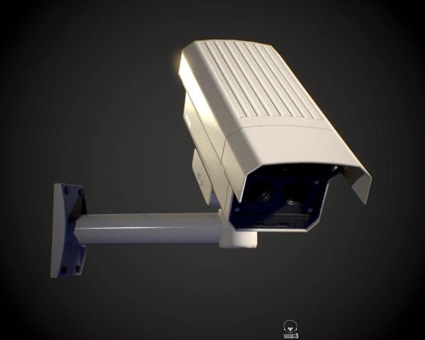 3D camera security pbr model