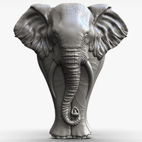 3d model elephant bas-relief sculpture cnc