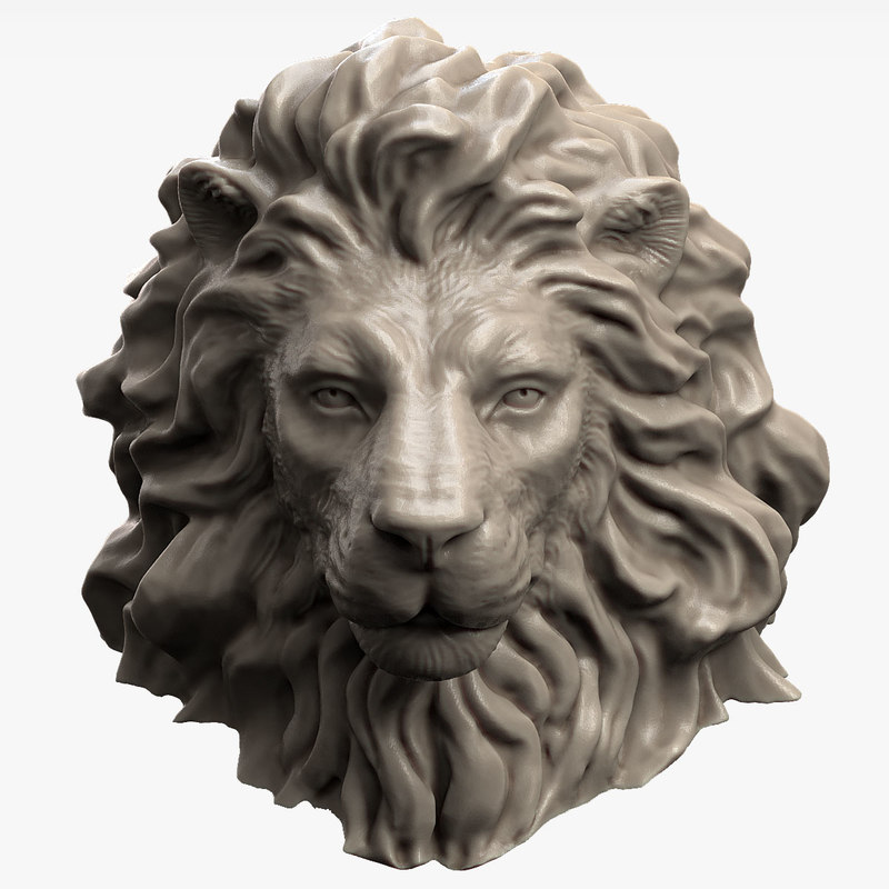 3d animal lion head