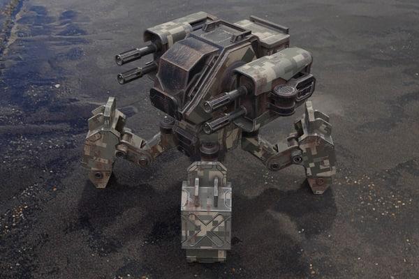 3D model robot m-03