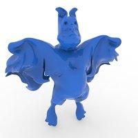 caricature flying bat model