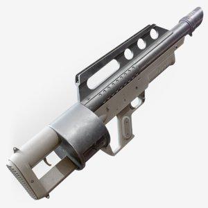 3D model pancor jackhammer automatic shotgun