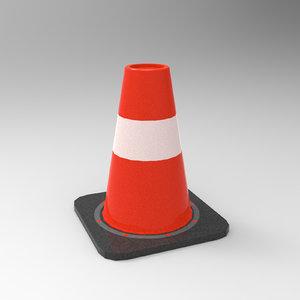traffic cone modeled model