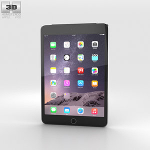 3D model apple 3 ipad