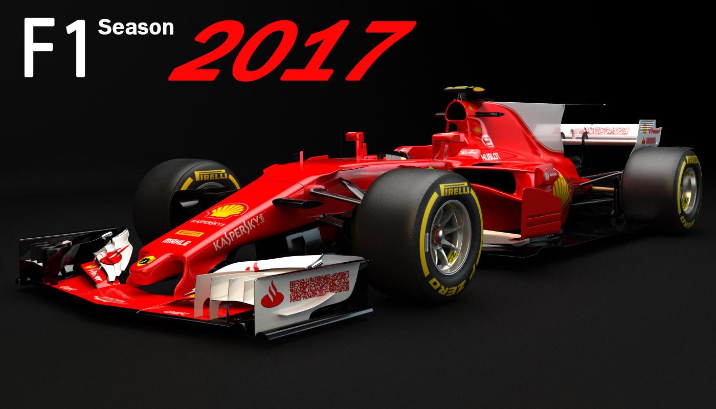 3D f1 horse racing model
