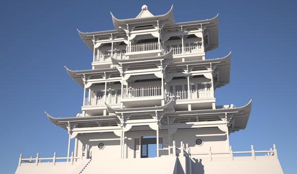 traditional chinese pagoda model