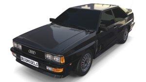 1981 audi coupe quattro 3D model