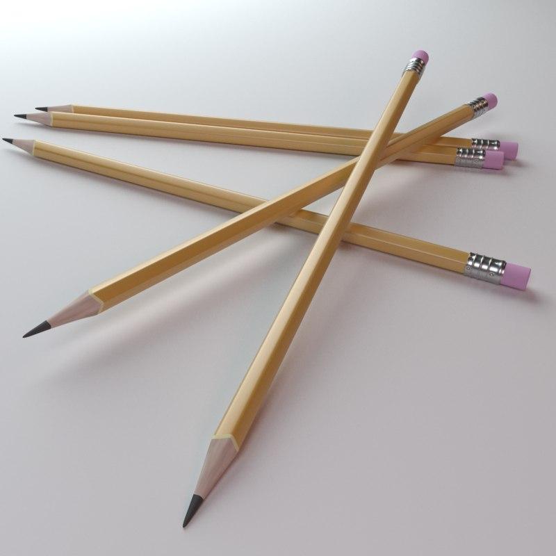 pencil office 3D model