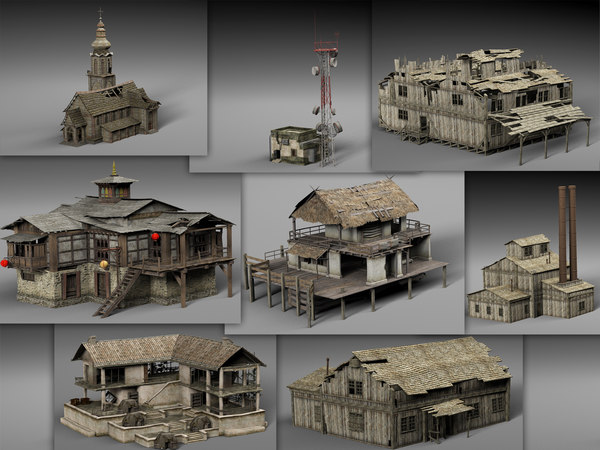 3D old abandoned houses games