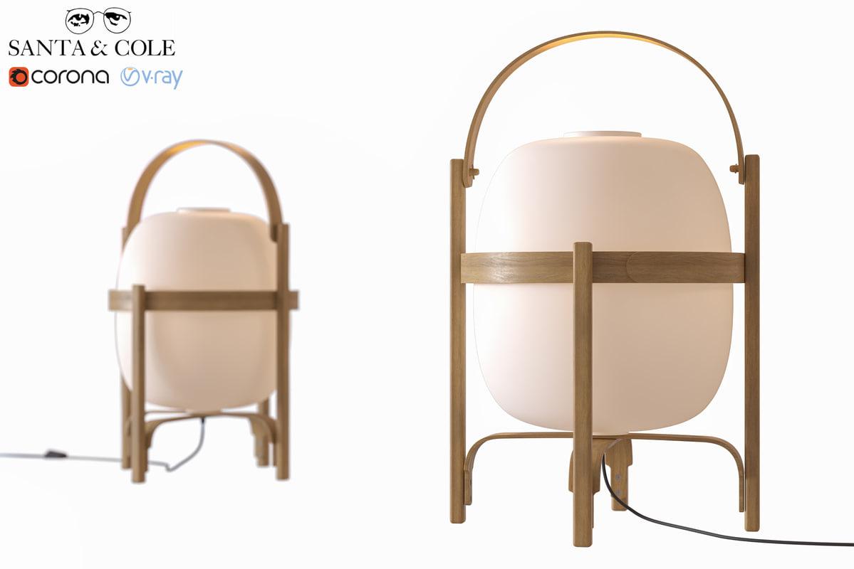 3D model lamp cesta