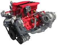 Twin Turbocharged V8 Engine