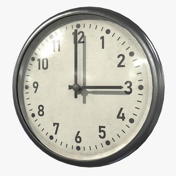 3D clock asset real
