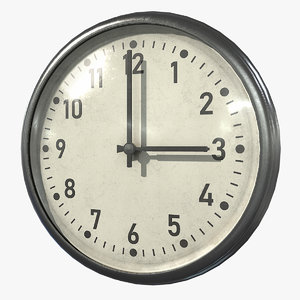 3D clock asset real