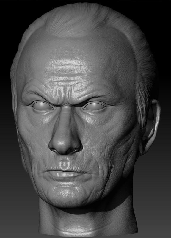 3D head actor bill nighy model