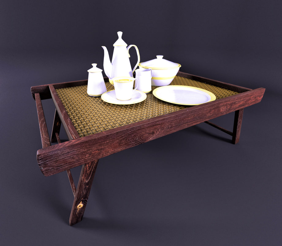 3D china mini tea table