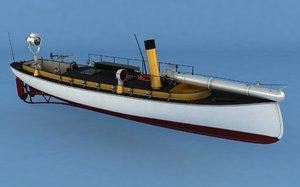 boat torpedos 3D model