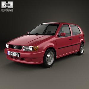 volkswagen polo 1994 3D model