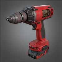 Electric Drill (Construction) - PBR Game Ready